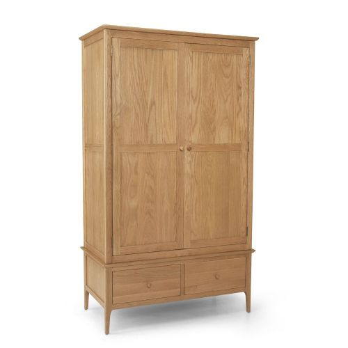 Stanton Oak Double Wardrobe with Drawers